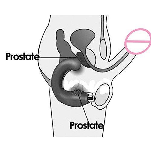 DACHUI Masaje de prostata masculina impermeable vibrador Butt anal Butt vibrador plug/silicona Masajeador de próstata vibrador G Spot Productos Juguetes sexuales para hombres negro2 81281f