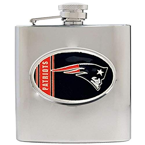 NFL New England Patriots 6oz Stainless Steel Hip Flask -