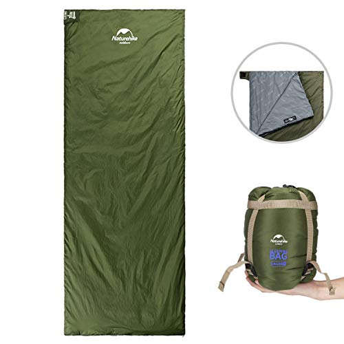 ieGeek Sleeping Bag, Lightweight Envelope Sleeping Bags with Compression Sack Portable Waterproof for 3 Season Travel Camping Hiking Backpacking Outdoor Activities,Ultra-Large for Kids/Adults(Green) (Best Women's Backpack For Camino De Santiago)