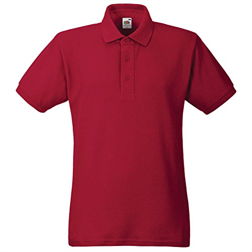 Fruit of the Loom -  Polo  - Uomo Rosso rosso mattone large