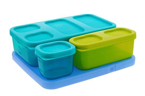 Rubbermaid LunchBlox Kid's Flat Lunch Box Kit, Blue/Green
