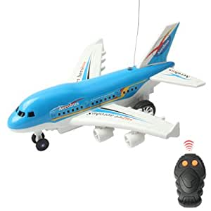 BEST Infrared Remote Control Aerobus with Light and Sound Effect, Ideal for any age Group, Batteries (not included) (BLUE)