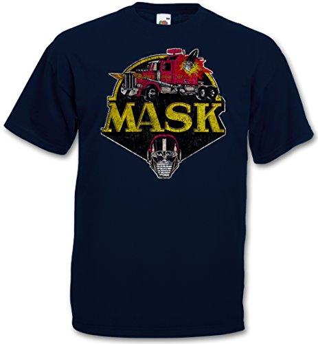 Sk Series (MASK VINTAGE LOGO T-SHIRT - Cartoon Kult TV M.A.S.K. Series Retro 80s Mask T-Shirt Sizes S – 5XL)