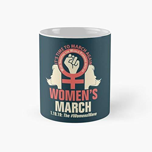 Womens March 2019#WomensWave Mug, womens march Funny Mugs, 11 Ounce Ceramic Mug, Perfect Novelty Gift Mug, Tea Cups, Funny Coffee Mug 11oz, Tea Mugs ()