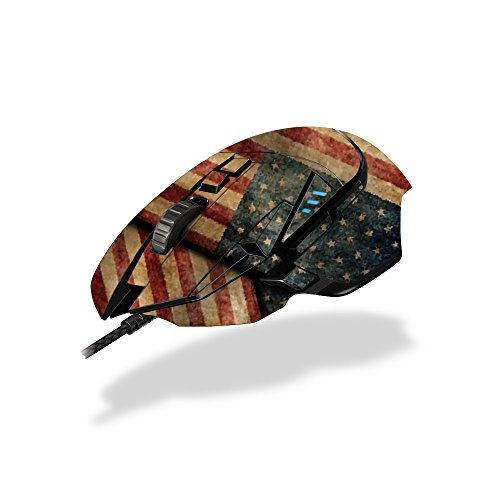 MightySkins Skin Logitech G502 Proteus Spectrum Gaming Mouse - Vintage American | Protective, Durable Unique Decal wrap Cover | Easy to Apply, Remove Change Styles | Made in The USA