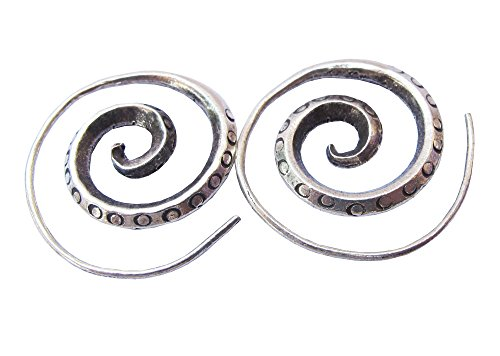 ThaiJewelry WEIGHT 7.20 G. BEAUTIFUL THAI KAREAN HILL TRIBE SILVER CIRCLE EARRING SIZE 25 x 25 MM BY HAND MADE - Hill Tribe Silver Circle