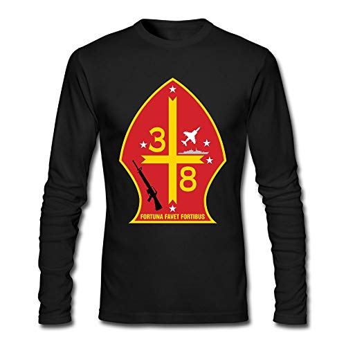 GHRY T 3rd Battalion 8th Marine Regiment Mens Long Sleeve T-Shirt Cotton Tee