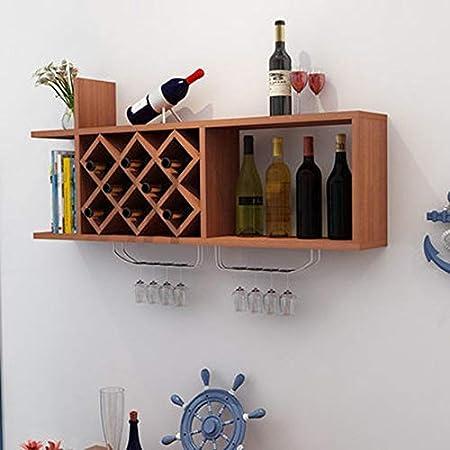 MU Restaurant Wine Rack, Decorative Wine Rack, Wine Racks Pared de Madera Maciza Vinoteca Decoración de la Sala Estante para Satisfacer Cualquier Espacio