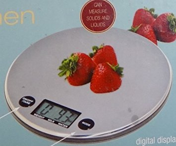 Amazon.com: KitchenLiving Digital Kitchen Scale Stainless Steel Weighing Surface: Kitchen & Dining