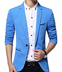 Slim Fit Single One Button Blazer