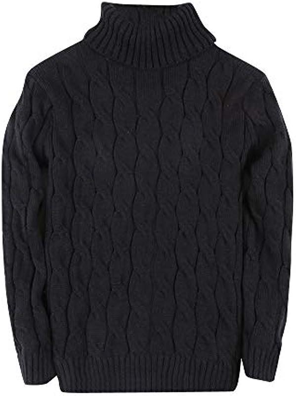PengGengA męski sweter dziergany sweter z rolowanym kołnierzem czas wolny ciepły jednokolorowy długi rękaw sweter: Odzież