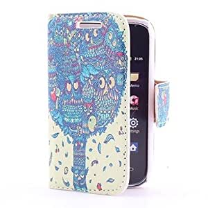 Dragon Tree Style Leather Case with Card Slot and Stand for Samsung Galaxy Y S5360