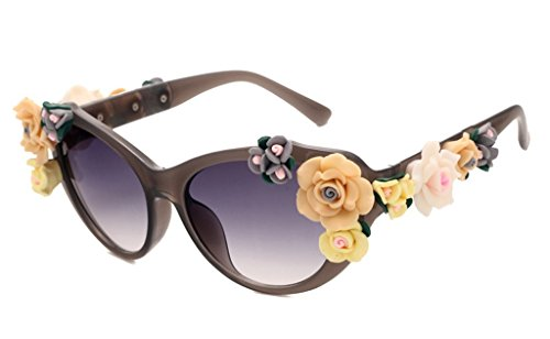 Retro Baroque Holograms Rose Sunglasses For - Sunglasses D&g Floral
