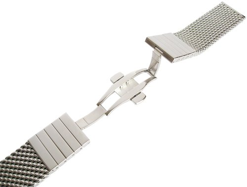Staib 22mm Polished Heavy Mesh 4.5mm Stainless Steel Watch Band 2793 by Staib (Image #1)