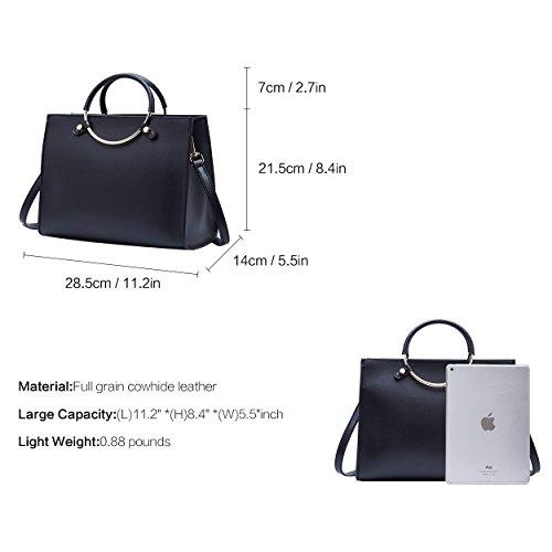tout BOYATU en Bag cuir fourre femmes Handle Ladies Sacs Noir main élégant Fashion à pour Top qq4xF6wCa