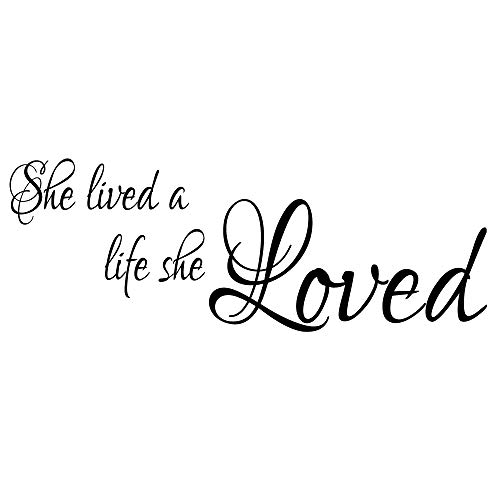 ZSSZ She Lived a Life she Loved Inspirational Wall Quotes Decals Girls Room Decoration Art Lettering Motto (And She Loved A Little Boy Quote)