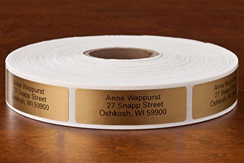 Personalized Self-Stick Address Labels, Classic Gold, Roll of 1000