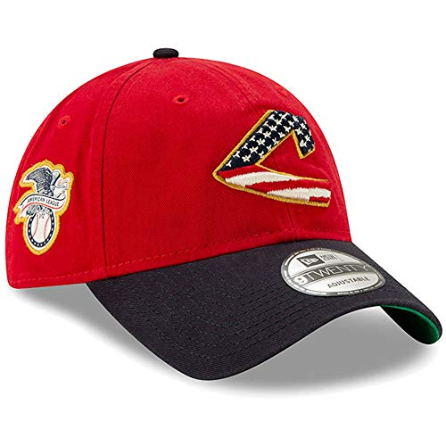 New Era 2019 MLB Cleveland Indians July 4th Flag Logo Baseball Cap Hat 9Twenty Red/Navy