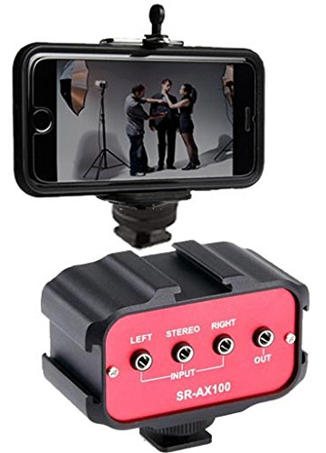 Saramonic Audio Mixer for DSLR Cameras & Camcorders w/ Free Ivation Mounting Solution for Smartphones Attachment by Calumet