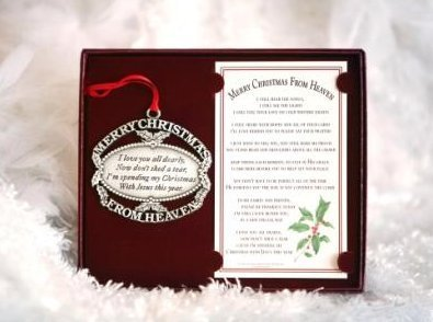 Merry Christmas From Heaven Ornament Personalized