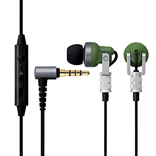 ELECOM EHP-CH3000SGN Hi-Res Stereo In Ear Ergonomic Fit Earphones, Dark - Flat Shipping Track Rate
