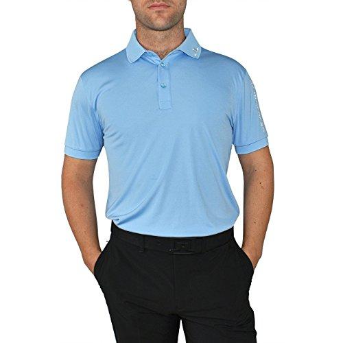 - J.Lindeberg Men's Tour Tech Tx Jersey Polo Shirt, Gentle Blue, X-Large
