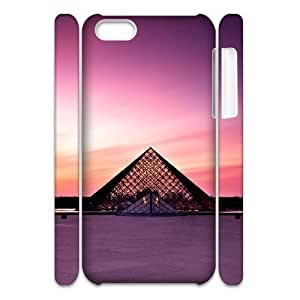 MEIMEIiphone 4/4s Case 3D, Louvre Museum At Sunset Case for iphone 4/4s white lmiphone 4/4s17253MEIMEI1