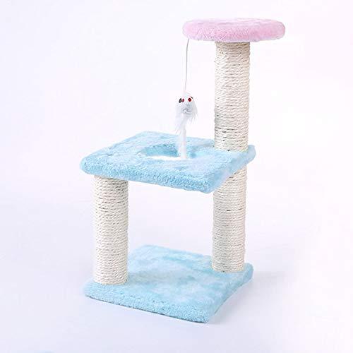 Jim-Hugh Funny Plush Cat Scratcher Tree Pet Play Toy Mouse Scratching Post Climbing Frame Cat Furniture Pet Product