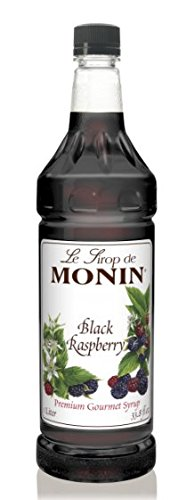 Monin Black Raspberry Syrup,1 liter bottle PET