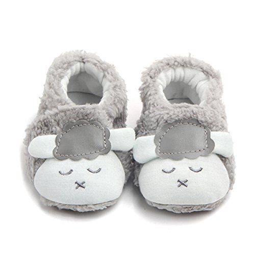 M2cbridge Baby Plush Animal Sheep Booties Warm Slipper (12cm, (Animal Booties)