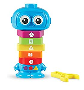 Learning Resources Count & Build TotBot, 9 Pieces, Blue