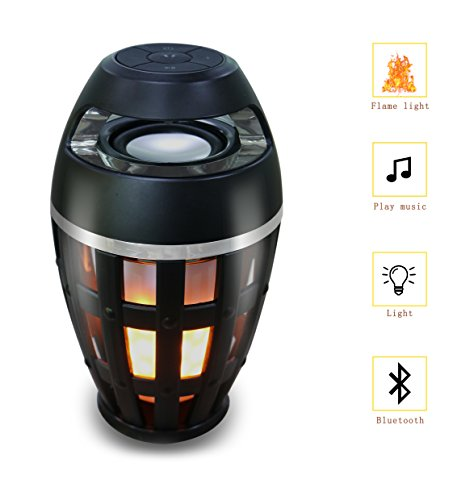 Bluetooth Speaker Sigeruite Led Flame Lamp Wireless