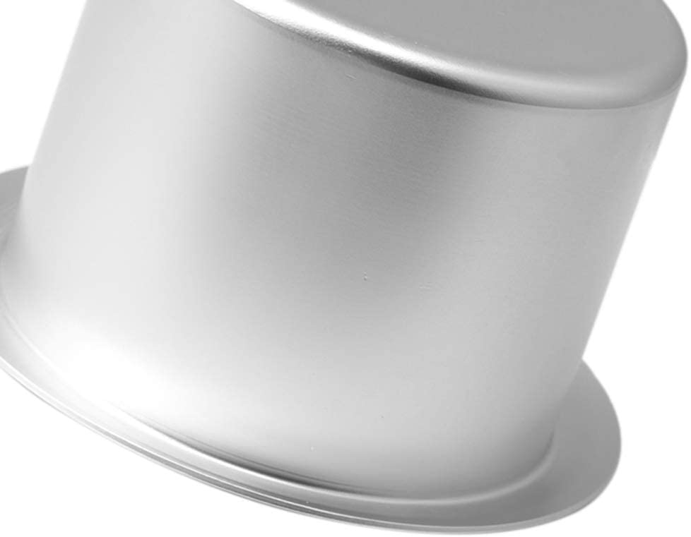 RDEXP Height 63mm Dia 100mm Aluminum Alloy Drop-in Drink Cup Holder for Car Silver