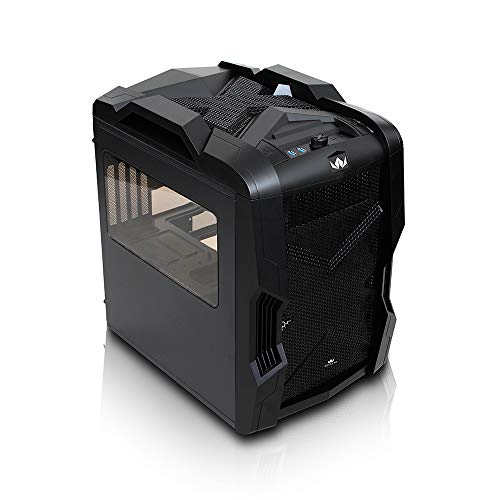 Rexgear 2 Micro ATX Cube PC Case with Removable Trays for Easy Installation, Black