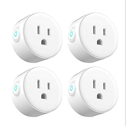 Price comparison product image YASSUN WIFI Smart Plug,  Works with Alexa / Google Home,  For Water Heater,  Air-Conditional,  Light,  Electric Kettle,  etc,  4 Pack