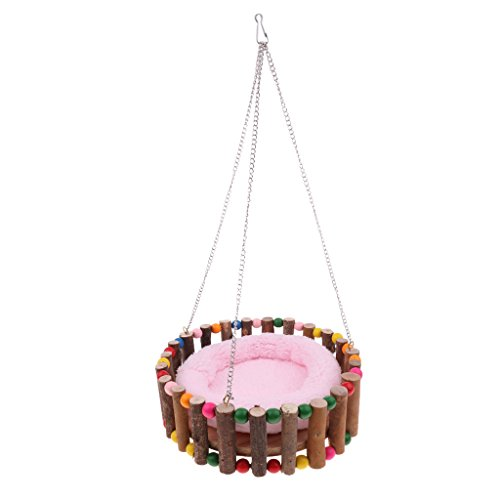 Hamster Squirrel Cage Hammock Super Warm Hanging Nester Bed Random Color - L from Unknown