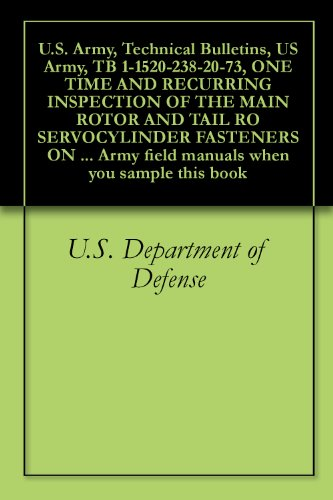 U.S. Army, Technical Bulletins, US Army, TB 1-1520-238-20-73, ONE TIME AND RECURRING INSPECTION OF THE MAIN ROTOR AND TAIL RO SERVOCYLINDER FASTENERS ON ... field manuals when you sample this book