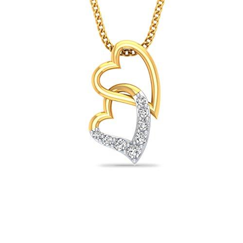 P.N.Gadgil Jewellers 18KT Yellow Gold and Diamond Pendant