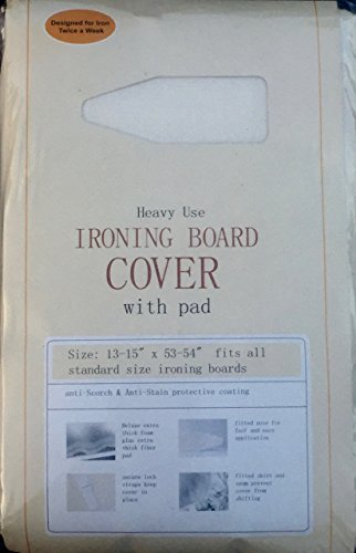 Heavy Use Ironing Board Cover with Pad (Ironing Standard Cover Board)