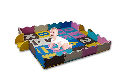 Kay Baby New Baby Play Mat for Babies, Toddlers and Kids | Comfortable Crawling Rug | Children Play Blanket | Perfect for Tummy Time | Non-Toxic | Non-Slip | No Odors