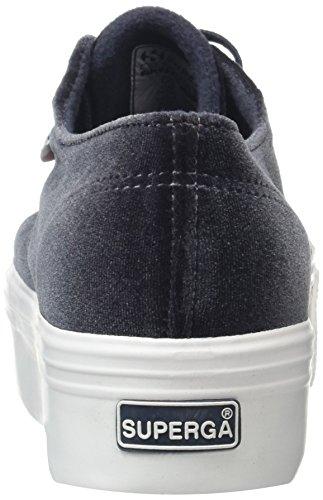 Superga 2790-Velvetw, Baskets Femme Gris (Dark Grey 004)