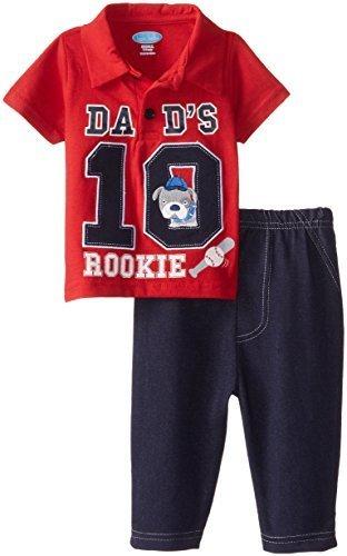 Bon Bebe baby-boys新生児Dad 's Rookie 2 Piece Pant Set by Bon Bebe   B014N6RIZG