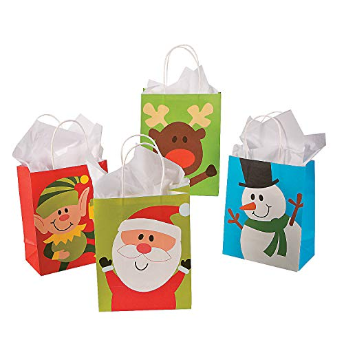 24pc Paper Christmas Gift Bags