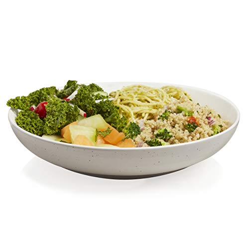 (Libbey Urban Story Ceramic Entrée Bowls, Grey, Set of 4)