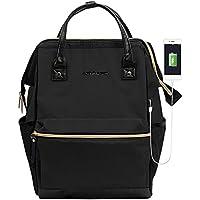 KROSER Laptop Backpack 15.6 Inch Stylish Computer Backpack School Backpack Casual Daypack Laptop Bag Water Repellent Nylon Business Bag Tablet With USB Port for Travel/Business/College/Women/Men-Black