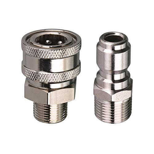 - Tool Daily Pressure Washer Adapter Set, Quick Connect Kit, 3/8 Inch Male Thread Fitting, 5000 PSI