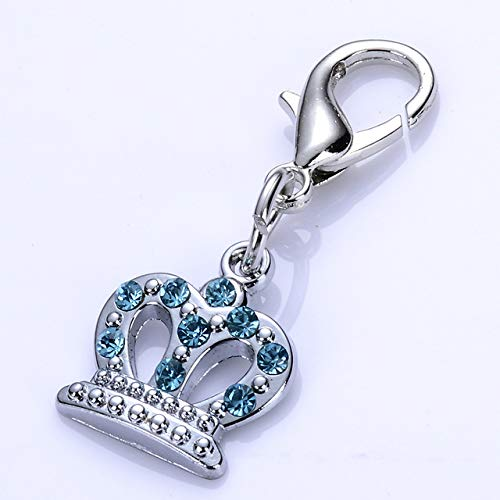 BeesClover 20pcs Rhinestone Crown Jewelry Pendant Accessories Design Collar Charm Tag Pet Products for Dogs Collars Show