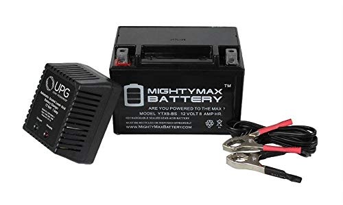 Mighty Max Battery YTX9-BS Replacement For ATV Maintance Free + 12V 1Amp Charger brand product