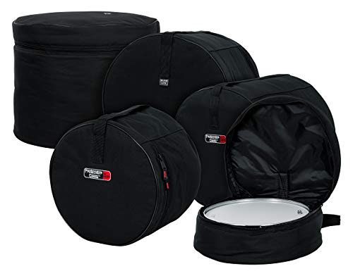 - Gator Cases Protechtor Series Five Piece Padded Nylon Gig Bags for Fusion Style Drum Sets; Fits  - 22″X18″, 10″X9″, 12″X10″, 16″X16″, 14″X5.5″(GP-FUSION16) (Renewed)