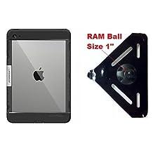 """SlipGrip RAM 1"""" Ball Mount For Apple iPad Mini 4 Tablet Using LifeProof Nuud Case"""